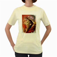 Red Mask Women s Yellow T-Shirt
