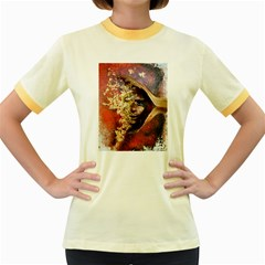 Red Mask Women s Fitted Ringer T-Shirts