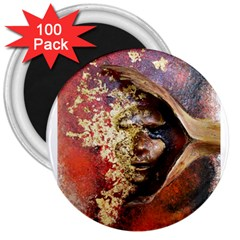 Red Mask 3  Magnets (100 Pack)