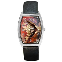 Red Mask Barrel Metal Watches