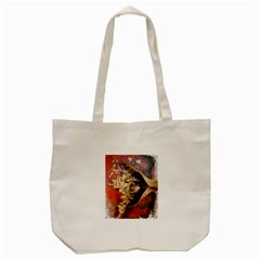 Red Mask Tote Bag (cream)