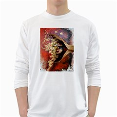 Red Mask White Long Sleeve T Shirts