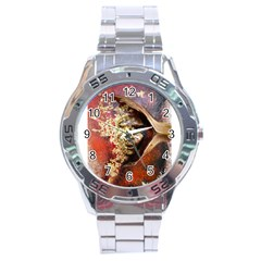Red Mask Stainless Steel Men s Watch