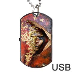 Red Mask Dog Tag USB Flash (Two Sides)