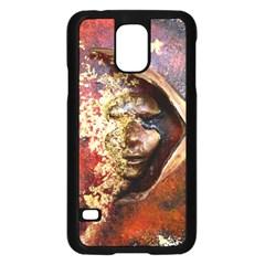 Red Mask Samsung Galaxy S5 Case (Black)
