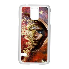 Red Mask Samsung Galaxy S5 Case (white)