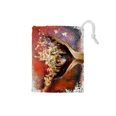 Red Mask Drawstring Pouches (small)