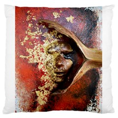 Red Mask Large Flano Cushion Cases (One Side)