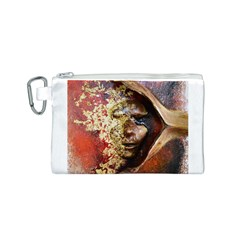 Red Mask Canvas Cosmetic Bag (S)