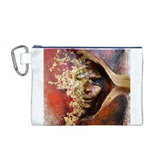 Red Mask Canvas Cosmetic Bag (M)