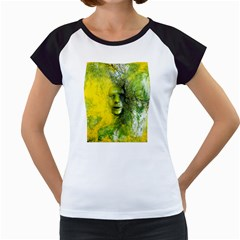 Green Mask Women s Cap Sleeve T