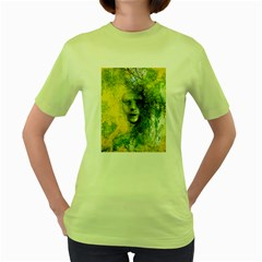 Green Mask Women s Green T-Shirt