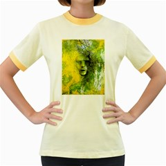 Green Mask Women s Fitted Ringer T-Shirts
