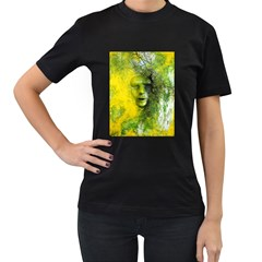 Green Mask Women s T-Shirt (Black) (Two Sided)