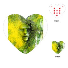 Green Mask Playing Cards (Heart)