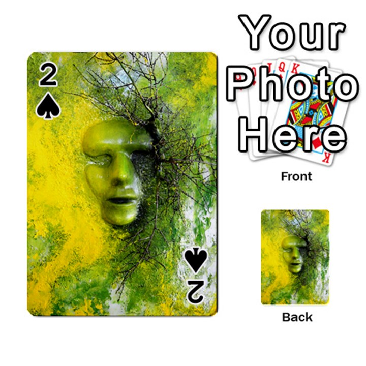 Green Mask Playing Cards 54 Designs