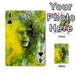 Green Mask Playing Cards 54 Designs  Front - Spade4