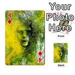 Green Mask Playing Cards 54 Designs  Front - Diamond4