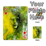 Green Mask Playing Cards 54 Designs  Front - Diamond5