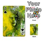 Green Mask Playing Cards 54 Designs  Front - SpadeJ