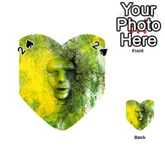 Green Mask Playing Cards 54 (heart)