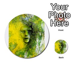 Green Mask Multi Purpose Cards (round)