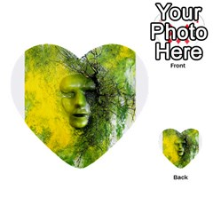 Green Mask Multi Purpose Cards (heart)