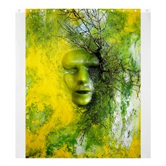 Green Mask Shower Curtain 66  x 72  (Large)