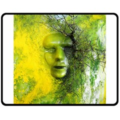 Green Mask Fleece Blanket (medium)