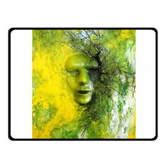 Green Mask Fleece Blanket (small)