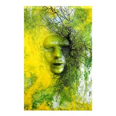 Green Mask Shower Curtain 48  x 72  (Small)