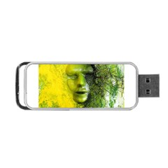 Green Mask Portable USB Flash (One Side)