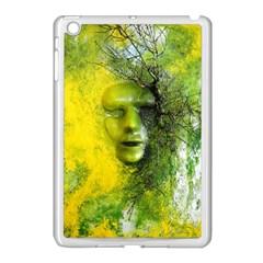 Green Mask Apple Ipad Mini Case (white)