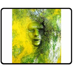 Green Mask Double Sided Fleece Blanket (Medium)