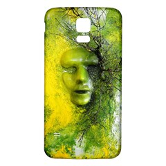 Green Mask Samsung Galaxy S5 Back Case (White)