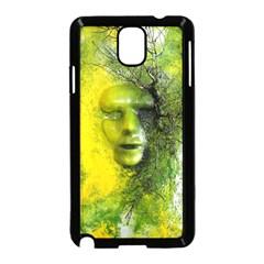 Green Mask Samsung Galaxy Note 3 Neo Hardshell Case (Black)