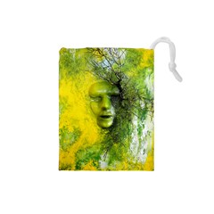 Green Mask Drawstring Pouches (Small)