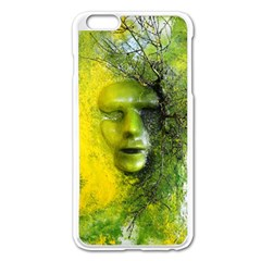 Green Mask Apple Iphone 6 Plus Enamel White Case