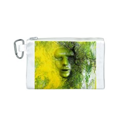 Green Mask Canvas Cosmetic Bag (S)