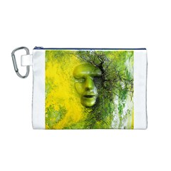 Green Mask Canvas Cosmetic Bag (M)