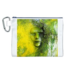 Green Mask Canvas Cosmetic Bag (L)