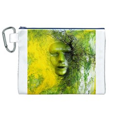 Green Mask Canvas Cosmetic Bag (XL)