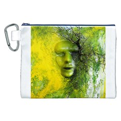 Green Mask Canvas Cosmetic Bag (XXL)