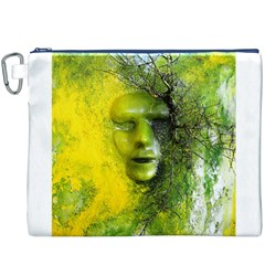 Green Mask Canvas Cosmetic Bag (XXXL)