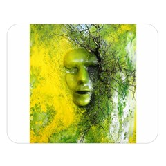 Green Mask Double Sided Flano Blanket (large)