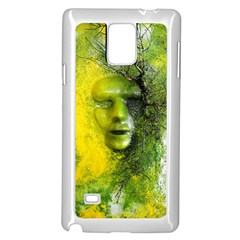 Green Mask Samsung Galaxy Note 4 Case (White)