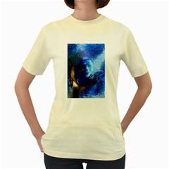 Blue Mask Women s Yellow T Shirt