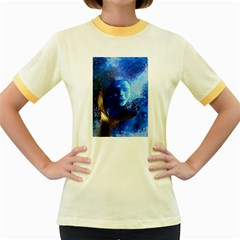 BLue Mask Women s Fitted Ringer T-Shirts