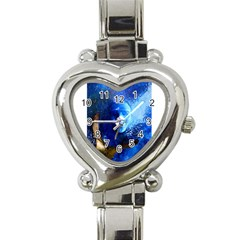 Blue Mask Heart Italian Charm Watch