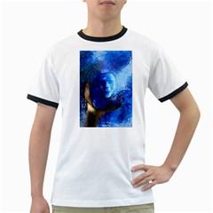 Blue Mask Ringer T Shirts